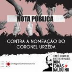 CRESS Goiás apoia nota pública contra a nomeação do Coronel Urzeda em cargo estratégico na Prefeitura de Goiânia