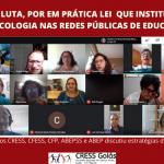 CRESS Goiás participa de reunião de mobilização para por em prática lei sobre Psicologia e Serviço Social no ensino básico
